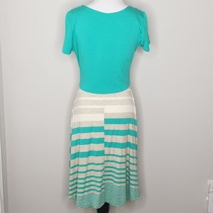 Gilli Dresses - NWT Gilly | Joanna Teal Striped Dress | L